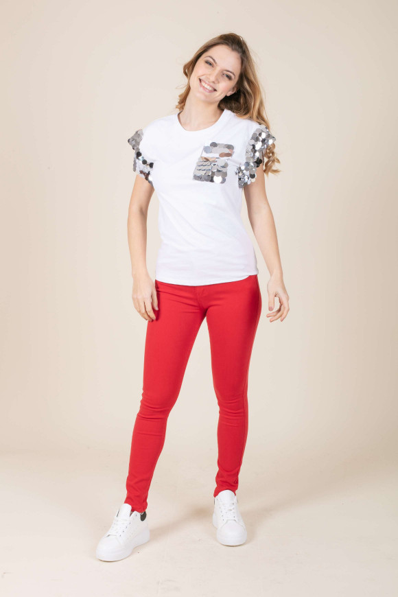 T-SHIRT COTONE PAILLETTES LORELEY