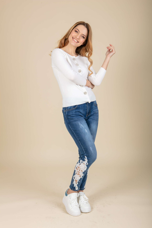 JEANS OVER SIZE STRASS MICHELA