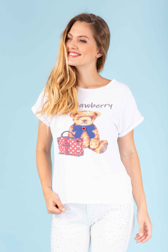 T-SHIRT CON STAMPA BERRY