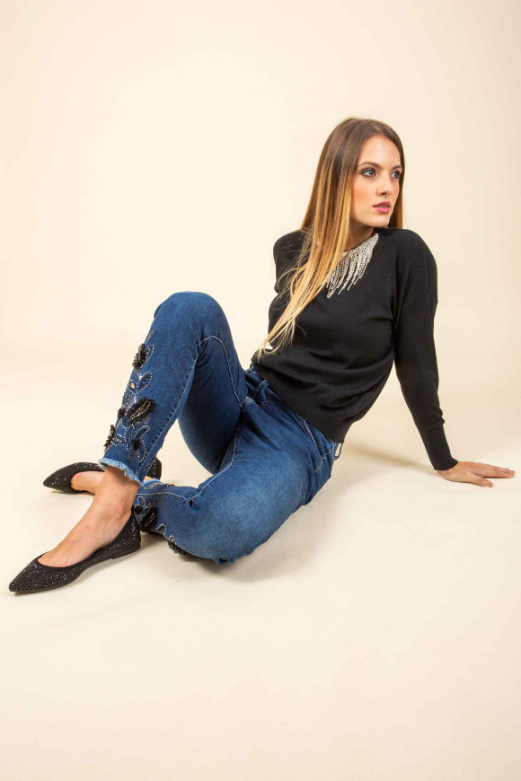 JEANS RICAMI IN TULLE BUDAPEST