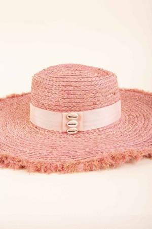 Cappello in raffia con fascia Pupa